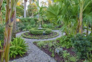 Tropical Landscape/Yard with Water feature, Gravel path