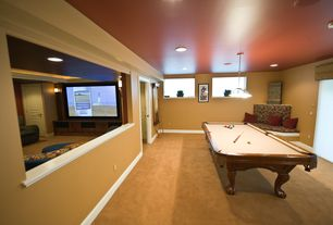 Contemporary Basement with Paint 1, Smooth 2-Panel Square Hollow Core Primed Composite Prehung Interior Door