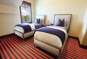 Traditional Kids Bedroom with Carpet
