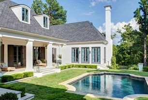 Traditional Swimming Pool with Other Pool Type, Skylight, French doors, Raised beds, exterior stone floors