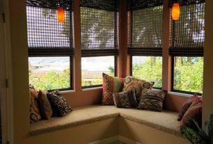 Eclectic Living Room with Elk Lighting Pierra 1 Light Mini Pendant, Window seat, Pendant light
