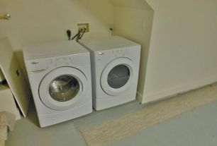 Traditional Laundry Room with Standard height, Concrete floors