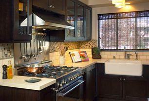 Contemporary Kitchen with Pental quartz sparkling white quartz counter tops, White subway tile, Pendant light