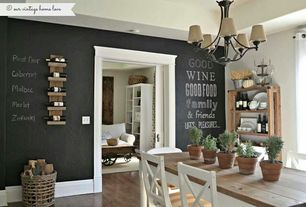 Eclectic Dining Room with Coaster Fine Furniture 701458 Coffee Table, Boraam Farmhouse Dining Table, Hardwood floors