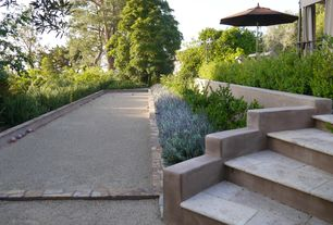 Mediterranean Landscape/Yard with Pathway, exterior stone floors