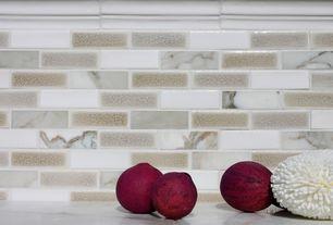 Contemporary Full Bathroom with Mosaic tile backsplash, Arizona tile, SOHO GLASS STONE STACK,, Ceramic Tile, Marble Tile