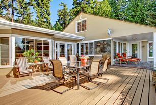 Traditional Deck with exterior brick floors, French doors, Pvc decking