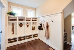 Traditional Mud Room with Crate & barrel guapo trunks, Home styles naples white indoor entryway bench with storage, Beadboard