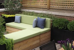 Contemporary Deck with How to make an outdoor sectional, Pathway, Raised beds, Fence