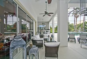 Modern Porch with exterior tile floors, Lap pool, Pathway, Wrap around porch, Outdoor kitchen