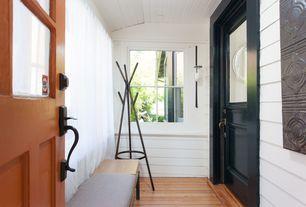 Traditional Mud Room with Hardwood floors, Wall sconce, Glass panel door