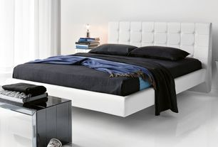 Modern Master Bedroom with simple marble floors