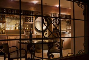 Mediterranean Wine Cellar with High ceiling