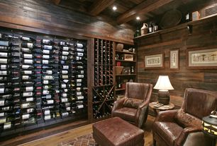 Rustic Wine Cellar with Kathy Kuo Home Chelsea Classic Man's Room Distressed Cigar Leather Arm Chair