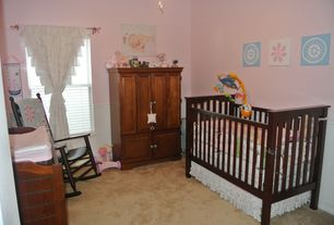 Traditional Kids Bedroom with Standard height, no bedroom feature, double-hung window, Carpet