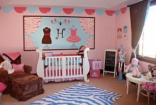 Craftsman Kids Bedroom with Mural, Carpet, Art desk, Storkcraft valentia fixed side convertible crib