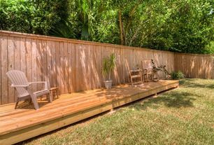 Traditional Deck with Teak rocking chair - tr22, Fence