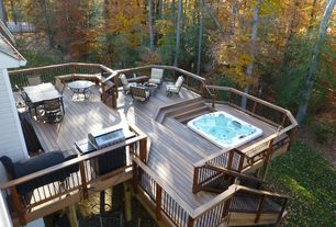 Contemporary room with Outdoor seating area, Outdoor dining area, Sunken hot tub