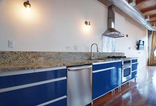 "Modern Kitchen with Paint 1, Brick 2x4"" subway metal mosaic stainless steel tile, Pental maori polished granite"