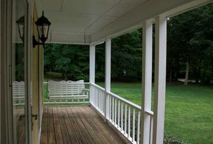 Traditional Porch with French doors, Porch swing, Deck Railing, Wrap around porch