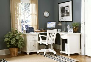 Traditional Home Office with Hardwood floors