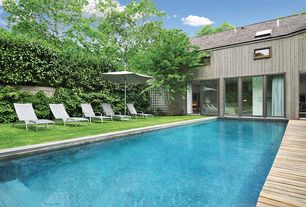 Modern Swimming Pool with Fence, Skylight, Lap pool