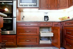 Traditional Kitchen with Slide-A-Shelf Made-To-Fit Slide-Out Shelf, Full Extension, Ready To Finish Maple Front