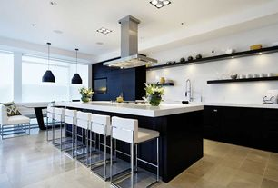 Contemporary Kitchen with flush light, Addison Parsons Chair by Sunpan Modern, Kitchen island, Side chair, Pendant light