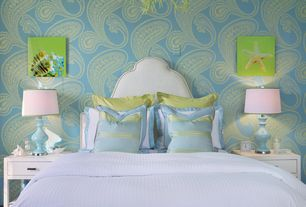 Contemporary Master Bedroom with interior wallpaper, Rajapur Contemporary Collection by Cole & Son- Wallpaper