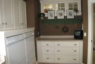 Laundry Room with limestone tile floors, Undermount sink