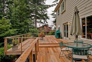 Traditional Deck with French doors