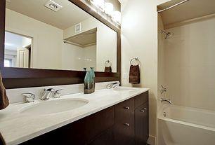 Modern Full Bathroom with Undermount sink, Chloe Lighting Ampere 3 Light Bath Vanity Wall Light, European Cabinets, Paint 2