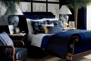 Traditional Master Bedroom with Carpet, High ceiling, Ralph Lauren Rue Royal Bed