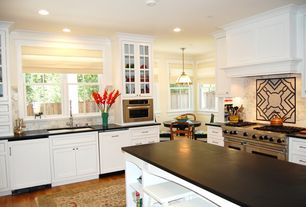 Traditional Kitchen with Inset cabinets, Kitchen island, Soapstone counters, Dorado Soapstone Pa Oiled/Waxed, Stone Tile