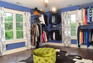 Eclectic Closet with Pendant light, Casement, Paint, Hardwood floors, Standard height