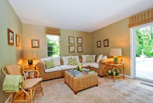 Modern Living Room with Sedona Square Cocktail Table, Charleston Sofa, Hardwood floors