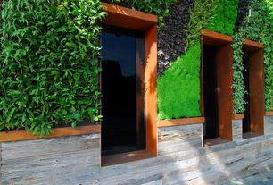 Contemporary Exterior of Home with Vertical living wall