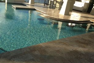 Tropical Swimming Pool with Pathway, Other Pool Type, Fence, exterior stone floors