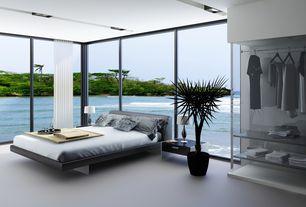 Modern Master Bedroom with Built-in bookshelf, Carpet, Modloft - jane bed