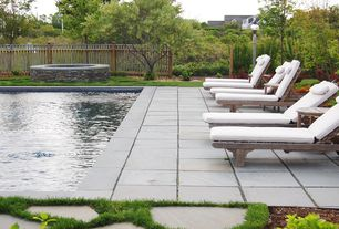 Contemporary Swimming Pool with Fence, exterior tile floors, Other Pool Type, exterior concrete tile floors
