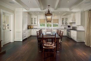 Traditional Kitchen with Flat panel cabinets, Northeast Lantern Hardwick Candelabra Sockets Large 4 Light Hanging Lantern