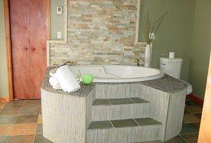 Eclectic Master Bathroom with Kohler - 6040 drop-in whirlpool bathtub, Master bathroom, Paint 1, Standard height, Wall Tiles