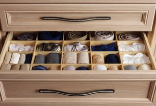 Contemporary Closet with Topex Decorative Hardware - 128mm or 160mm Centers Crystal Bow Pull in Bright Chrome