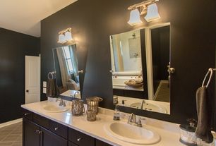 Modern Master Bathroom with European Cabinets, Corian counters, Master bathroom, Pental quartz cascade white, Double sink