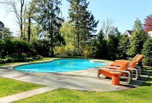 Modern Swimming Pool with Fence, Pathway, exterior stone floors