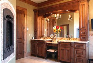 Traditional Master Bathroom with Complex Granite, Undermount sink, Master bathroom, Raised panel, Crown molding, Double sink