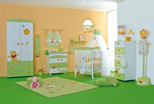 Contemporary Kids Bedroom with Carpet, Dynamic Rugs Fantasia Lime Area Rug