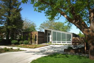 Modern Exterior of Home with Salt lake city, utah, Mixed roof types, Outdoor landscaping