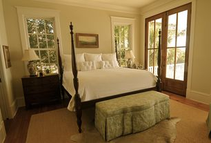 Traditional Master Bedroom with Hardwood floors, French doors, Crown molding