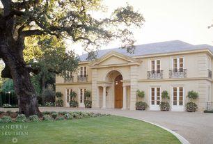 Mediterranean Exterior of Home with Raised beds, Fence, Glass panel door, Casement, Deck Railing, Paint 1